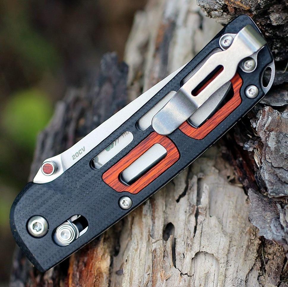 Фото 5 - Складной нож Benchmade 486 Saibu, сталь CPM-20CV, рукоять G-10/дерево