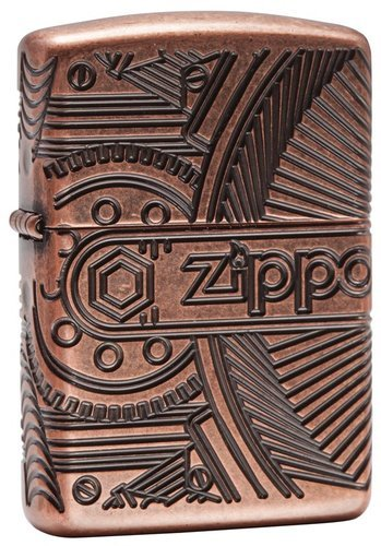 Зажигалка ZIPPO Armor™ с покрытием Antique Copper™, латунь/сталь, медная, матовая, 36x12x56 мм [haotian vegetarian] copper copper hinge hinge cabinet shanxi chinese antique painting box hinge htf 086