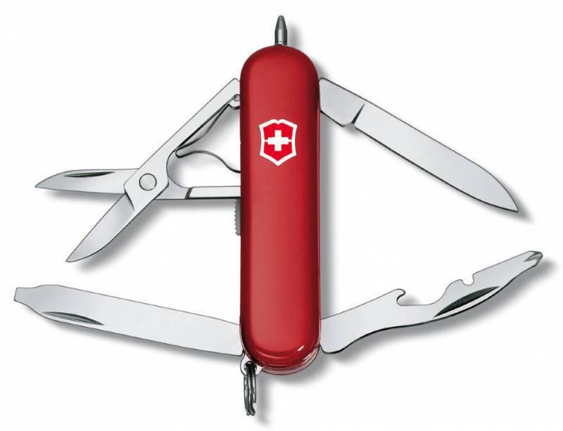 Нож перочинный Victorinox Midnite Manager 0.6366 58мм 10 функций красный нож перочинный victorinox rambler 0 6363 58мм 10 функций красный