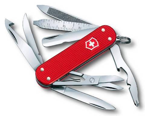 Нож перочинный Victorinox MiniChamp 0.6381.20 58мм алюминиевая рукоять красный - Nozhikov.ru