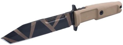 Нож с фиксированным клинком Fulcrum S, Desert Warfare, Plain Edge - Nozhikov.ru