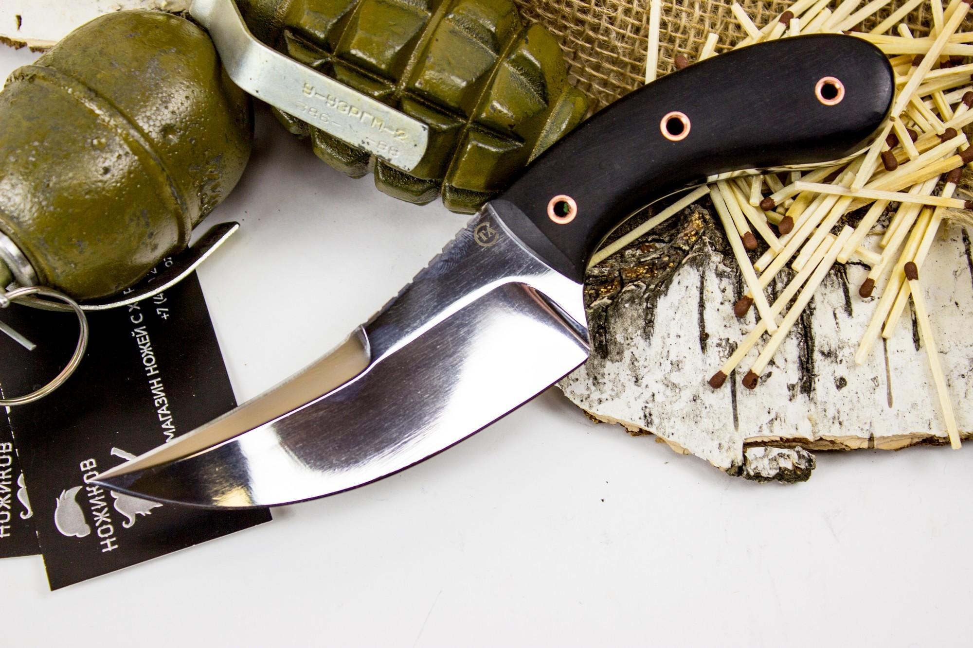 Нож Клык-1, сталь 95х18, граб Титов и Солдатова