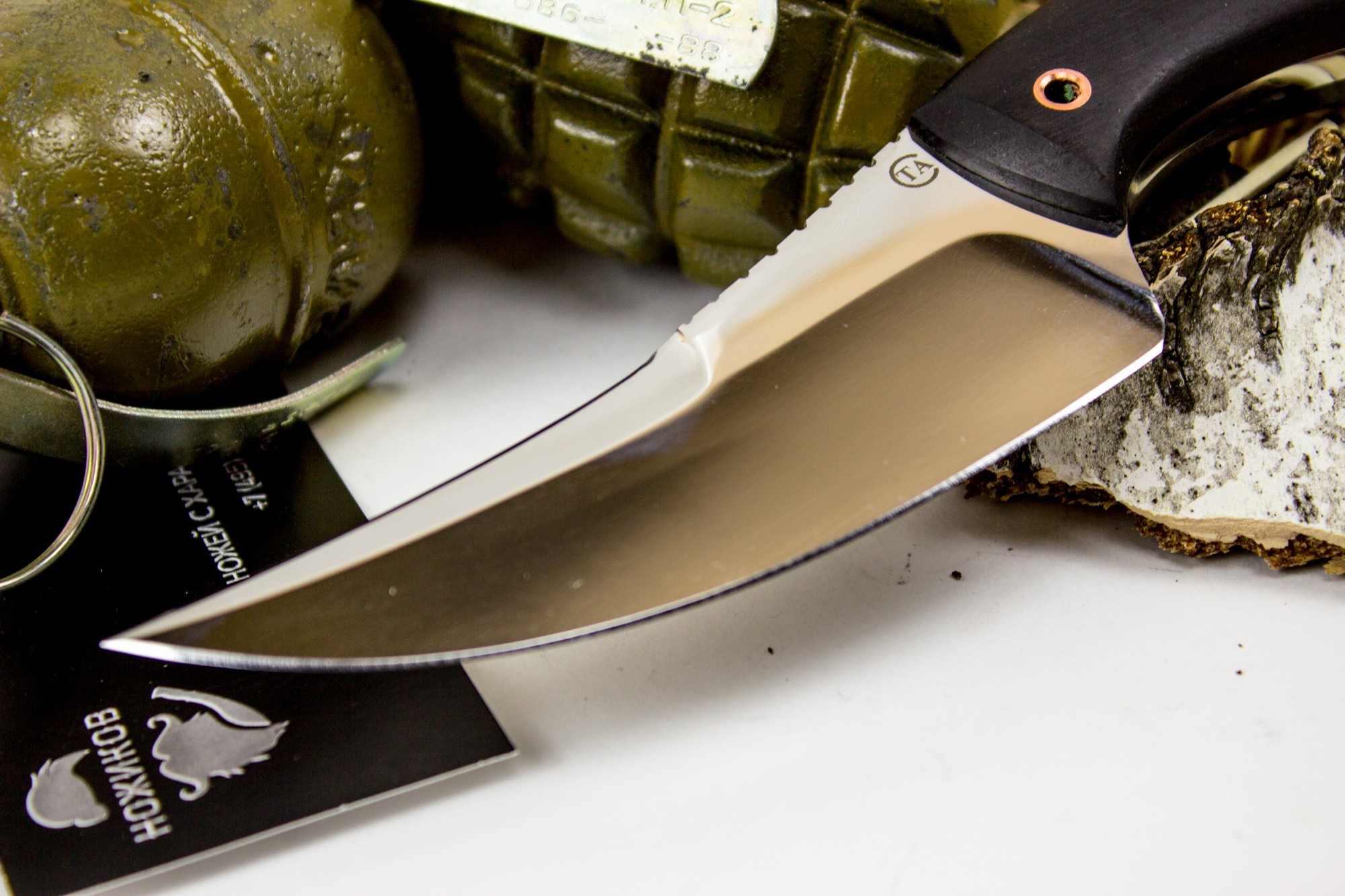 Фото 7 - Нож Клык-1, сталь 95х18, дерево от Титов и Солдатова