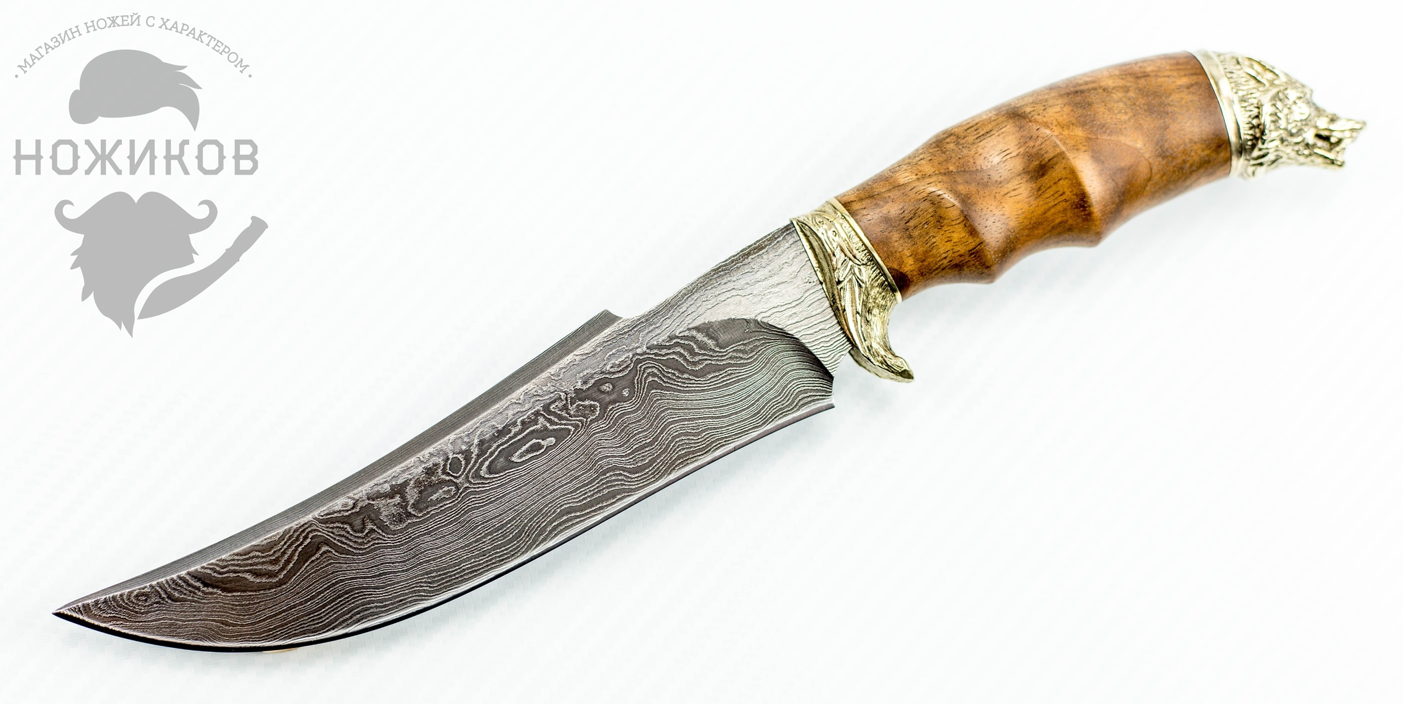 Авторский Нож из Дамаска №57, Кизляр авторский нож из дамаска 25 кизляр