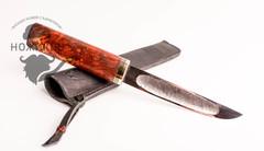 Авторский якутский нож из стали ШХ15, большой