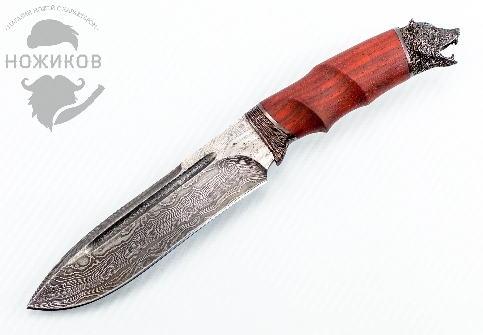 Авторский Нож из Дамаска №70, Кизляр авторский нож из дамаска 43 кизляр