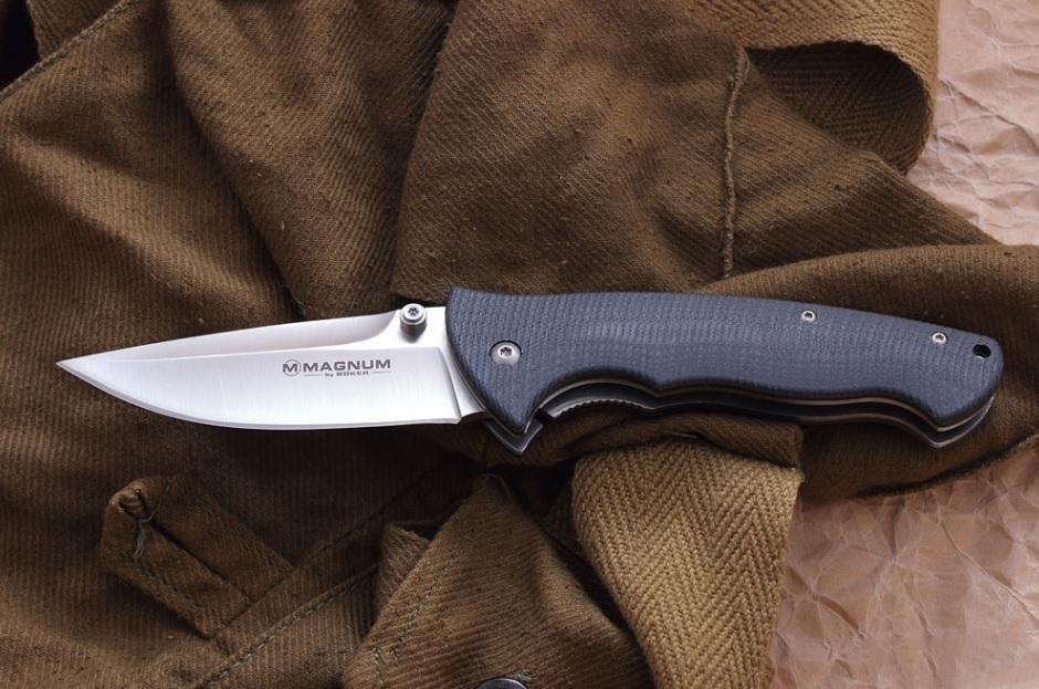 Фото 9 - Нож складной Magnum Tango Foxtrott - Boker 01SC030, сталь 440A Satin, рукоять стеклотекстолит G10