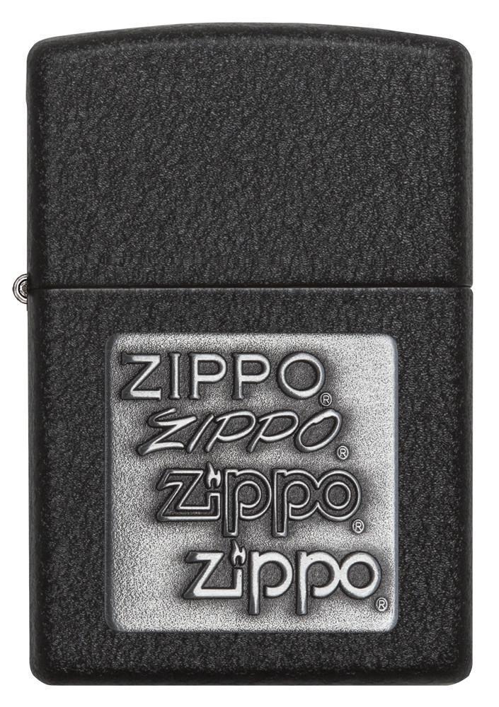 Зажигалка ZIPPO Classic с покрытием Black Crackle™, латунь/сталь, чёрная, матовая, 36x12x56 мм
