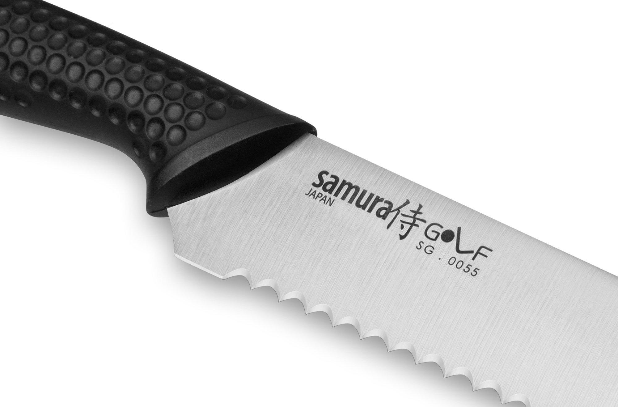 Фото 5 - Нож для хлеба Samura Golf SG-0055/K, сталь AUS-8, рукоять полипропилен
