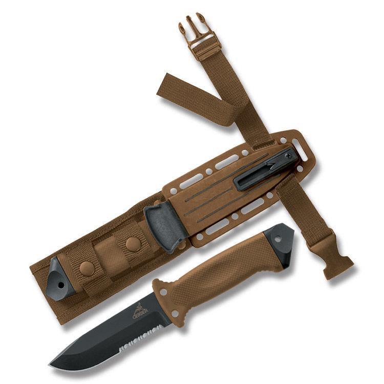 Фото 4 - Нож с фиксированным клинком Gerber LMF II Survival - R, сталь 420HC, рукоять термопластик GRN