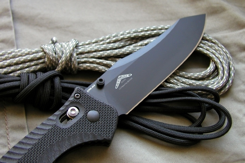 Фото 15 - Нож складной Benchmade 810BK Contego, сталь CPM-M4, рукоять G-10
