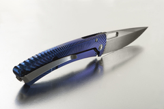Нож складной TiSpine, Purple Matte Anodized Solid® Titanium Handle, Satin Finish Sleipner Stainless Steel