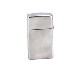 Зажигалка ZIPPO Slim® с покрытием Satin Chrome™, латунь/сталь, серебристая, матовая, 30х10x55 мм