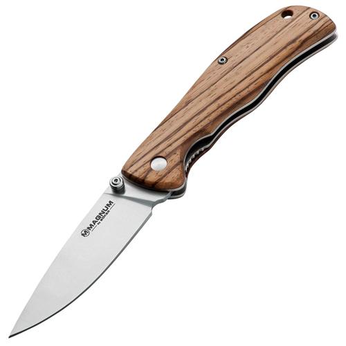 Фото 7 - Нож складной Magnum Backpacker, сталь 440A Satin Plain, рукоять дерево, Boker 01EL605