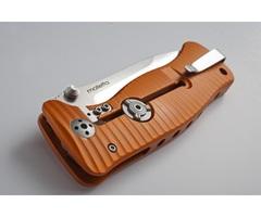 Нож складной LionSteel SR1A OB ORANGE, сталь D2 Black Finish, рукоять алюминий (Solid®), оранжевый, фото 10