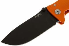 Нож складной LionSteel SR1A OB ORANGE, сталь D2 Black Finish, рукоять алюминий (Solid®), оранжевый, фото 8