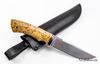 Нож Клык, vanadis 10, хромированый, мельхиор, карельская береза - Nozhikov.ru