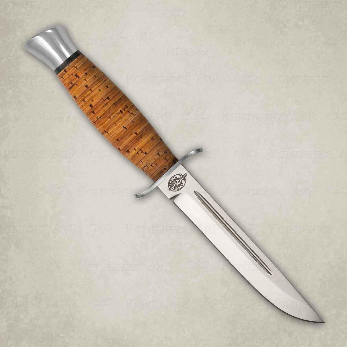 Нож АиР Финка-2, сталь 110х18 М-ШД, рукоять береста недорого