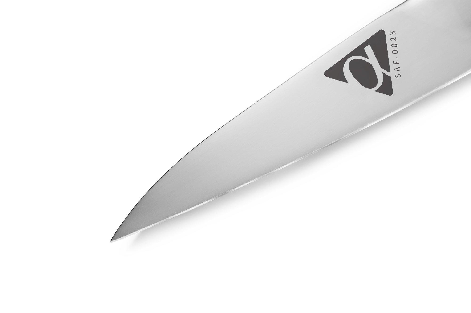 Фото 7 - Нож кухонный универсальный Samura Alfa SAF-0023/Y, сталь AUS-10
