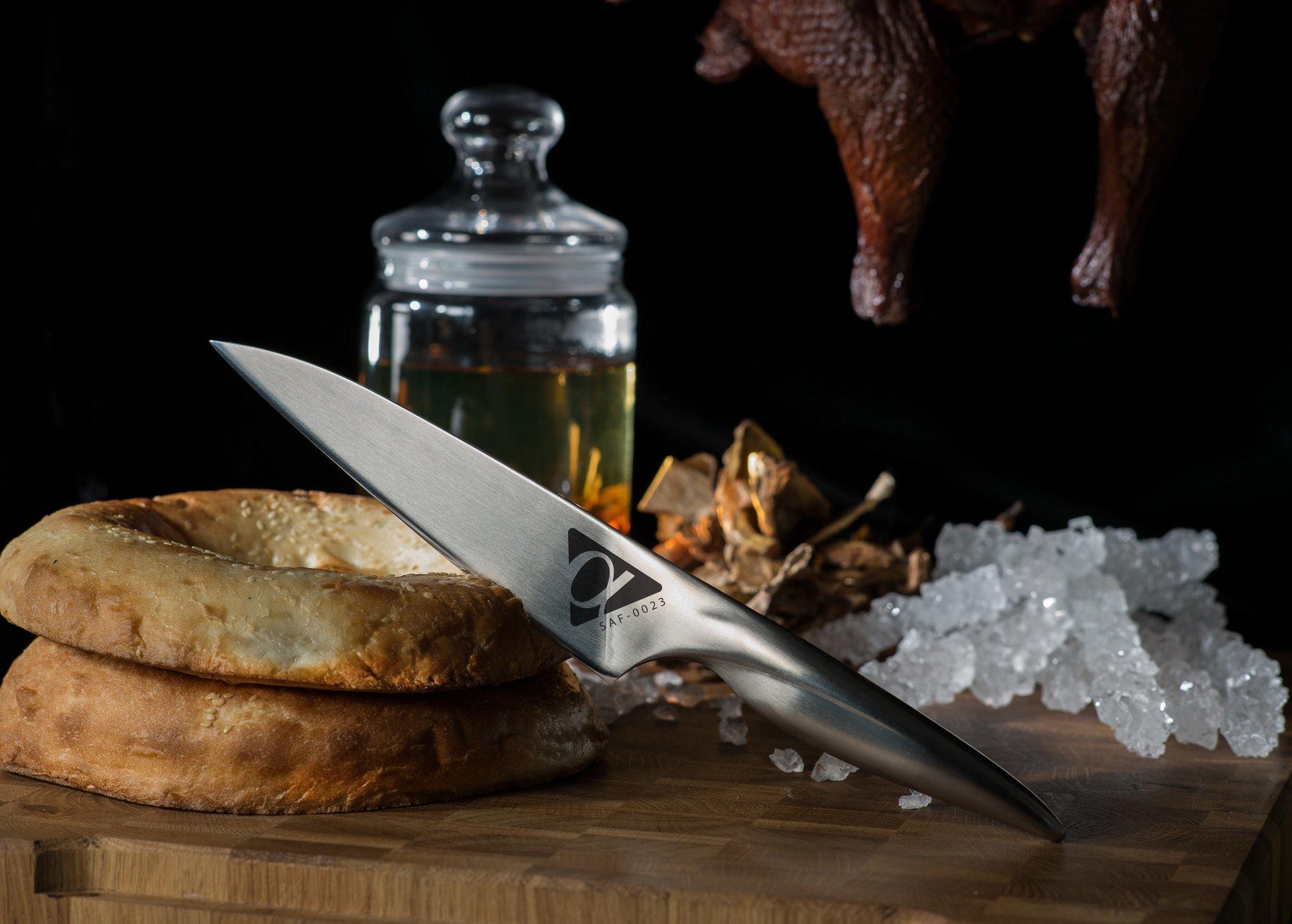 Фото 8 - Нож кухонный универсальный Samura Alfa SAF-0023/Y, сталь AUS-10