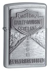 Зажигалка ZIPPO Harley-Davidson® Легенда, с покрытием Street Chrome™