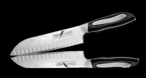 Нож Сантоку Tojiro Flash 180 мм с насечками, сталь VG-10 - Nozhikov.ru