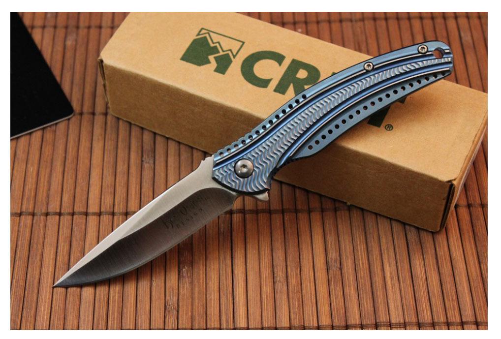 Фото 8 - Складной нож CRKT Ripple 2 Blue, сталь Acuto 440, рукоять нержавеющая сталь