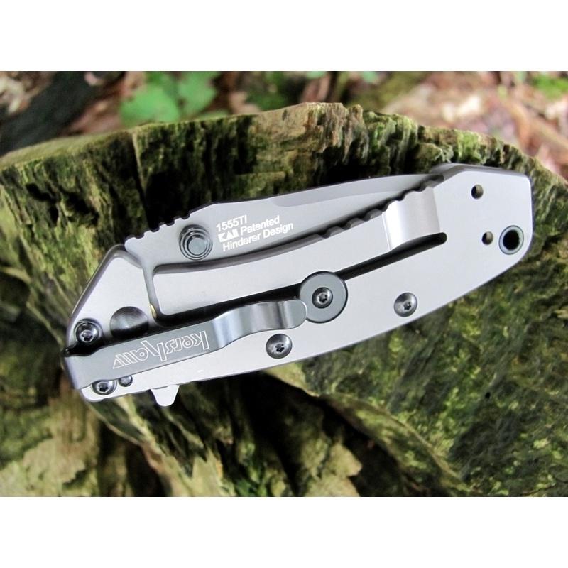 Фото 3 - Складной полуавтоматический нож Kershaw Cryo K1555TI, сталь 8Cr13MOV, рукоять сталь