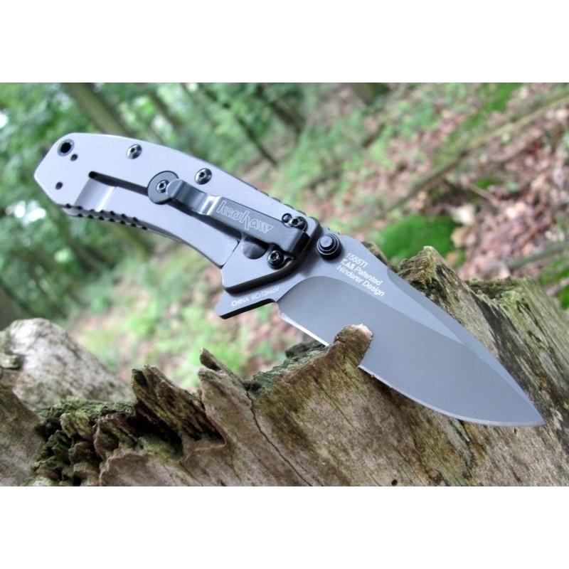 Фото 4 - Складной полуавтоматический нож Kershaw Cryo K1555TI, сталь 8Cr13MOV, рукоять сталь