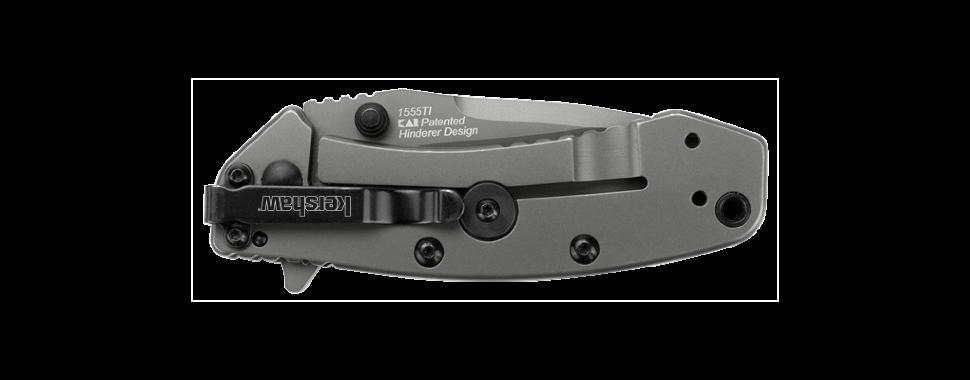 Фото 10 - Складной полуавтоматический нож Kershaw Cryo K1555TI, сталь 8Cr13MOV, рукоять сталь