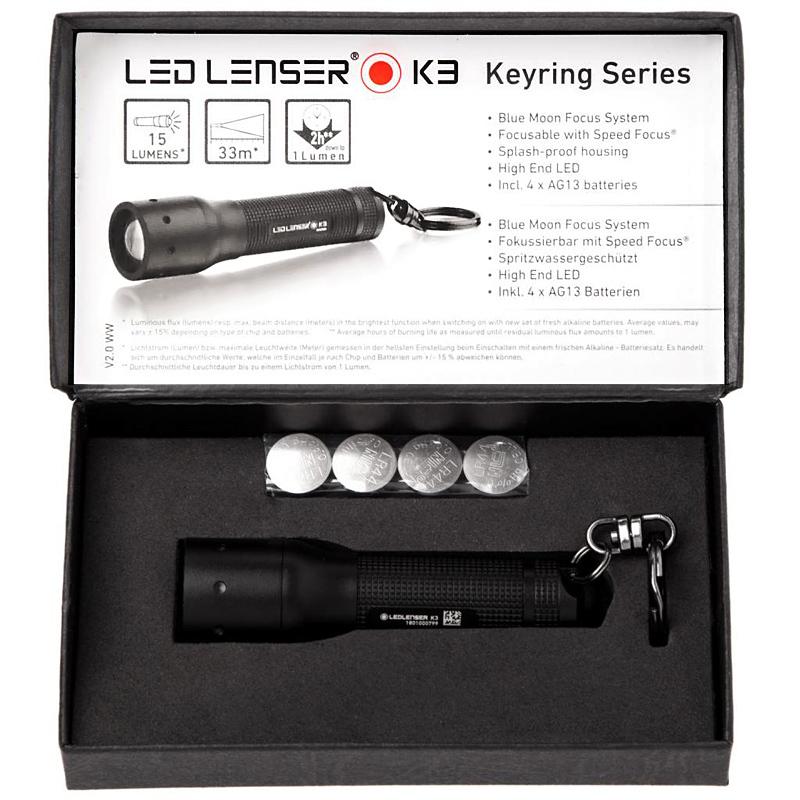 Фото 4 - Фонарь-брелок светодиодный LED Lenser K3, 15 лм., 4-AG13