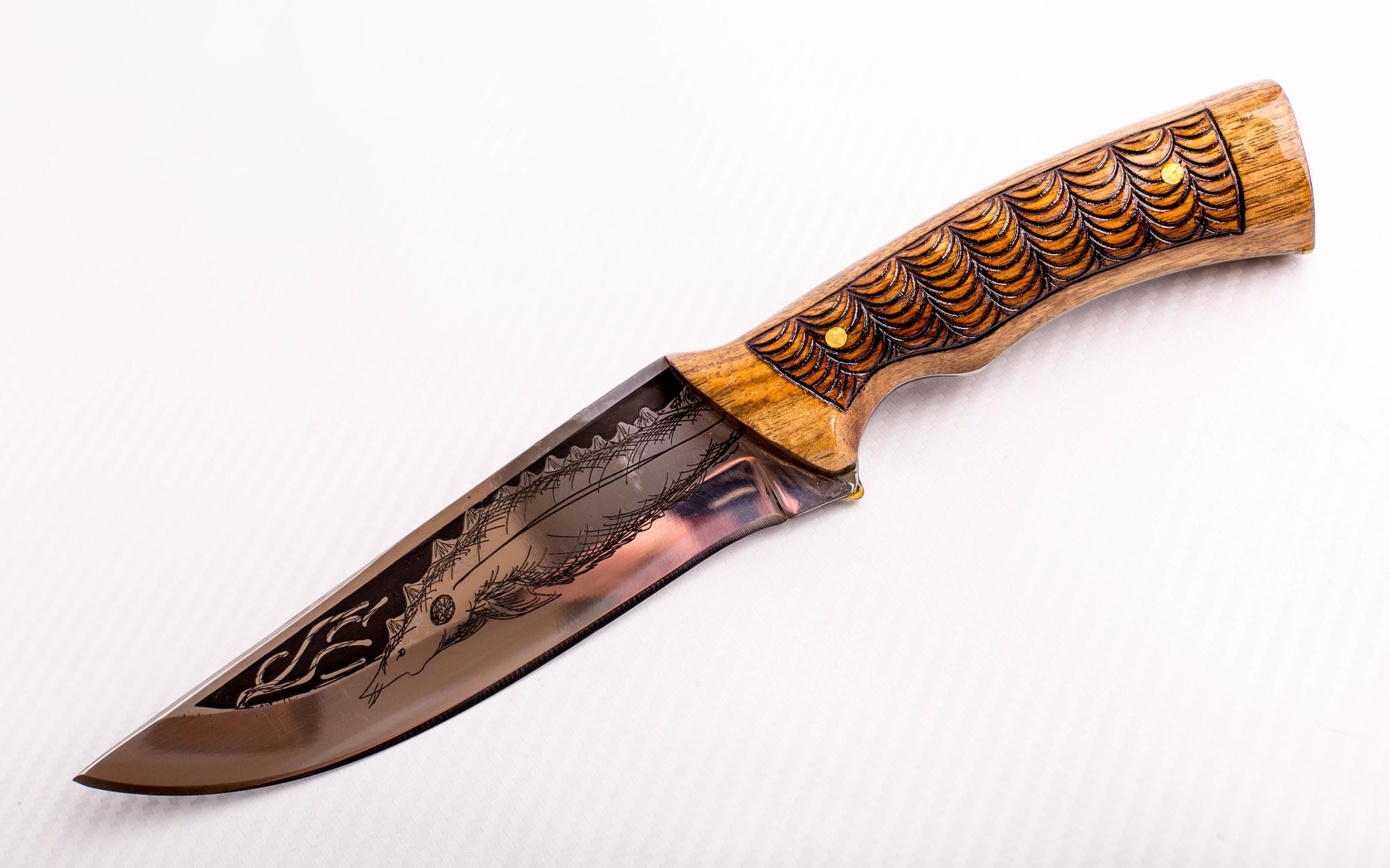 Нож Морской Волк, резной, Кизляр СТО, сталь 65х13 нож сафари 2 кизляр сто сталь 65х13 резной гарда