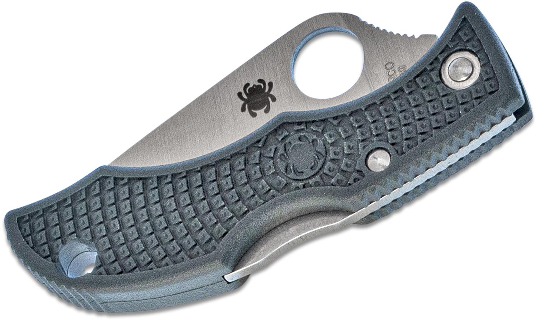 Фото 9 - Нож складной Ladybug 3 - Spyderco LGREP3, сталь ZDP-189 Satin Plain, рукоять термопластик FRN, (British Racing Green) зелёный