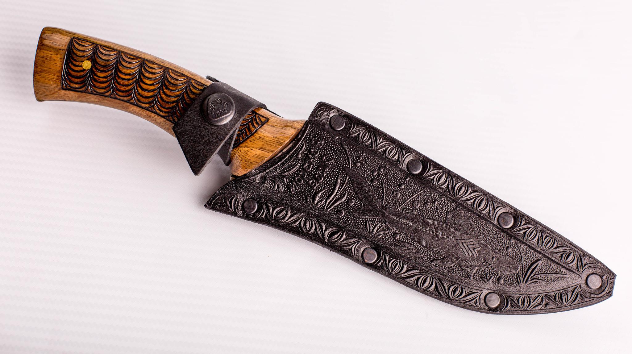 Фото 10 - Нож Морской Волк, резной, Кизляр СТО, сталь 65х13