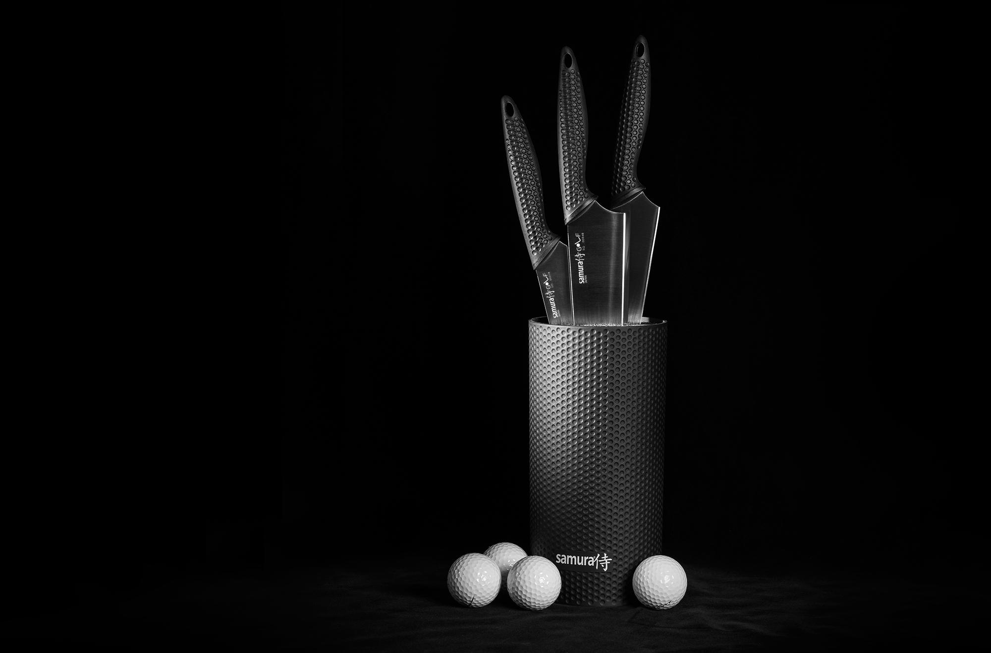 Фото 2 - Набор из 3 ножей и подставки