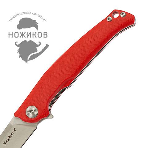 Складной нож Nimo Runenes, сталь 9Cr18MoV, красный. Вид 3