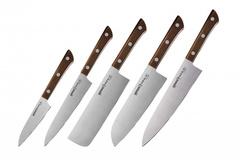Набор ножей 5 в 1 Samura HARAKIRI, AUS-8, ABS пластик