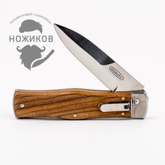Нож автоматический Predator Mikov Wood, N690, фото 5