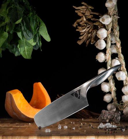 Кухонный нож Накири Samura ALFA SAF-0043/Y, сталь AUS-10. Вид 3
