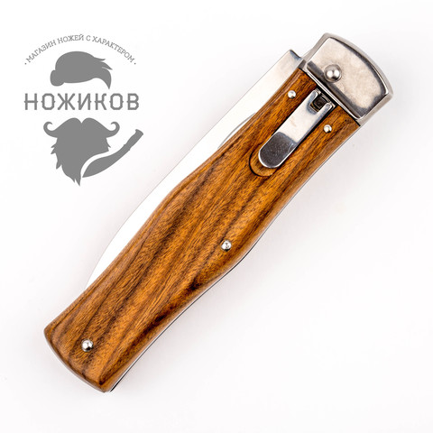 Нож автоматический Predator Mikov Wood, N690