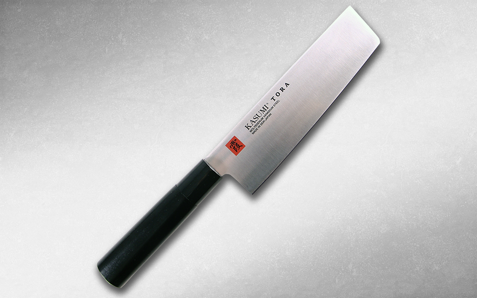 Нож кухонный Накири Tora 165 мм, Kasumi, 36847, сталь AUS-6A, стабилизированная древесина, чёрный