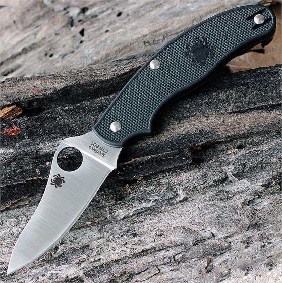 Фото 8 - Нож складной UK Penknife Spyderco 94PBK3, сталь CTS BD1N Satin Plain, рукоять термопластик FRN, чёрный