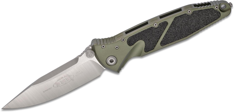 Складной нож Microtech SOCOM ELITE, сталь CTS-204P, рукоять зеленый алюминий, сатин