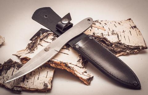Нож метательный Игла 2, сталь 65х13. Вид 3