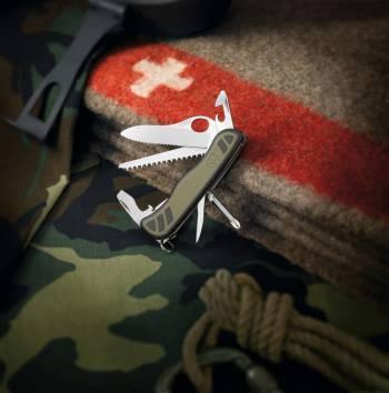 Фото 6 - Швейцарский нож Victorinox Military c фиксатором, 10 функций
