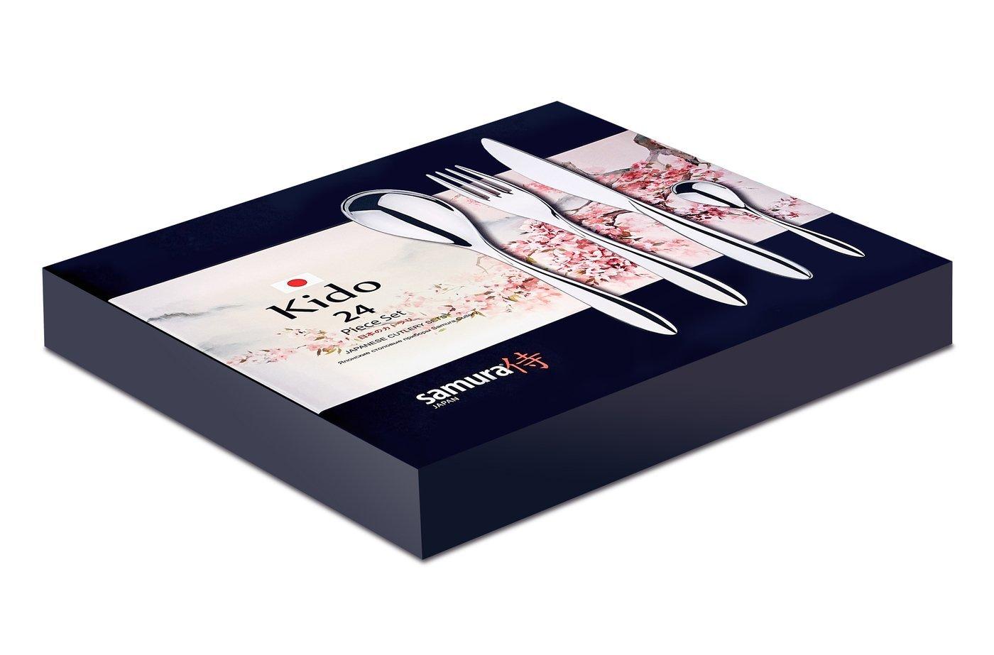 Набор столовых приборов (24 предмета) Samura Kido, легированная нержавеющая сталь 18/10 набор столовых приборов moulinvilla длина 30 см 2 предмета