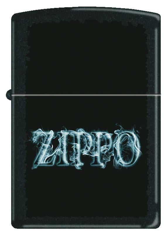 Зажигалка ZIPPO, латунь с покрытием Black Matte, чёрная с надписью Zippo, матовая, 36x12x56 мм фото