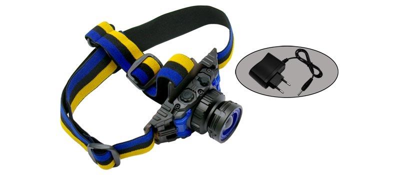 Фото - Фонарь налобный светодиодный F11, трехрежимный аккумулятор