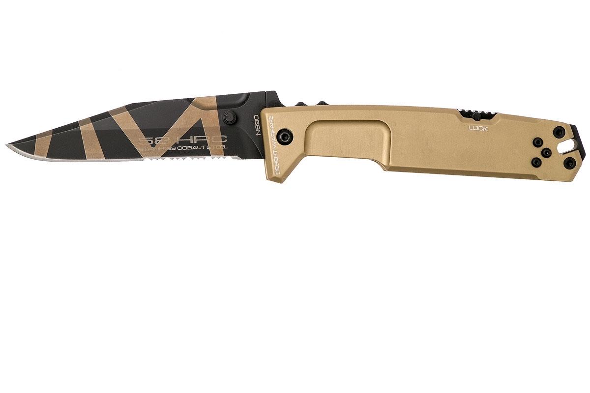 Фото 6 - Складной нож Extrema Ratio M.P.C. (Multi Purpose Compact) Desert Warfare, сталь Bhler N690, рукоять антикородал (алюминиевый сплав), песочный камуфляж
