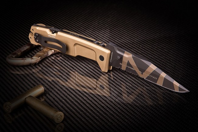 Фото 5 - Складной нож Extrema Ratio M.P.C. (Multi Purpose Compact) Desert Warfare, сталь Bhler N690, рукоять антикородал (алюминиевый сплав), песочный камуфляж
